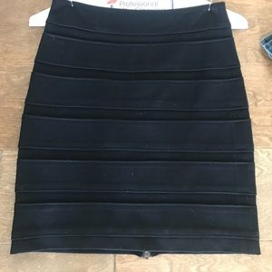 Paige Black Bodycon Skirt